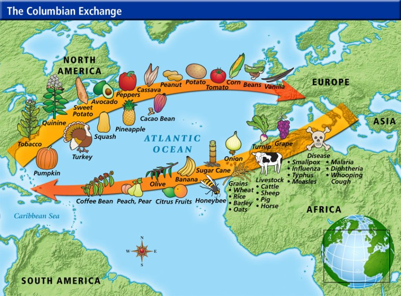 Tracing routes of the Columbian Exchangem