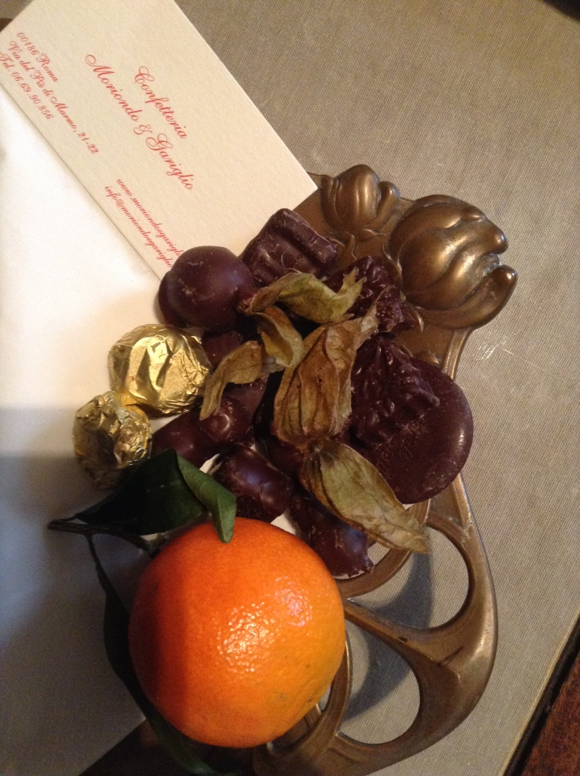 assorted chocolates from Confetteria Moriondo & Gariglio, Rome