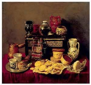 Antonio de Pareda, Still Life with cocoa service at left