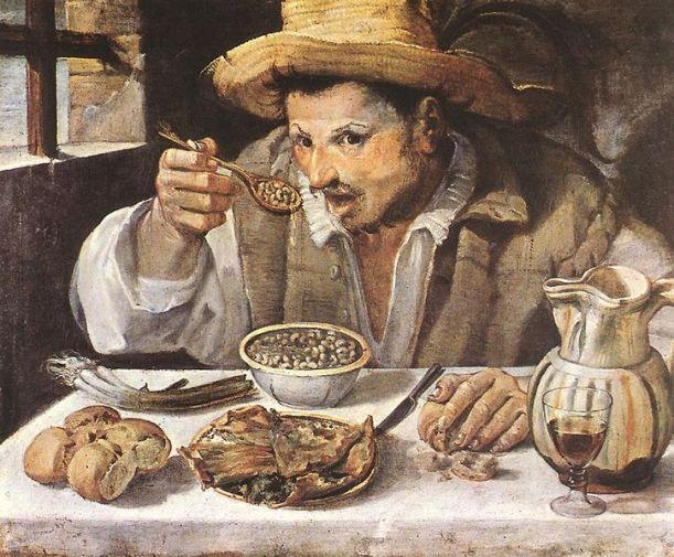 Annibale Carracci, Bean Eater, Rome