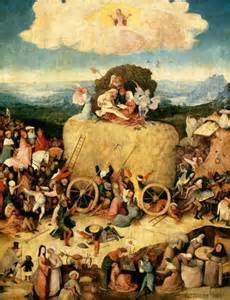 Hieronymous Bosch, The Haywain, central panel