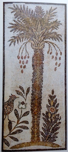 1883 excavations in Naro, Tunisia revealed a 6th century mosaic of a date palm. Hammam Lif Synagogue