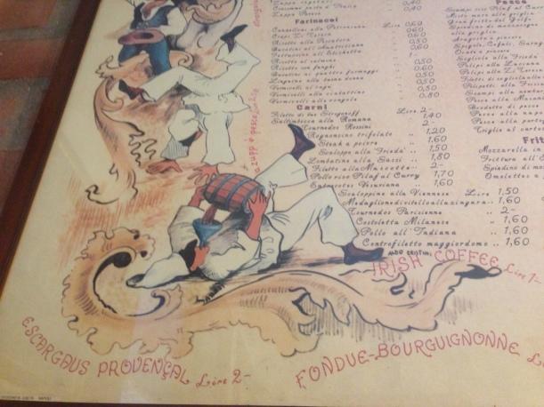 Pulcinella menu