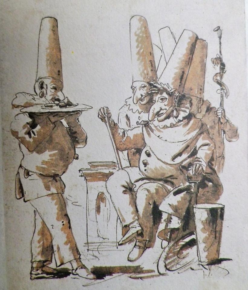 G.D. Tiepolo, A company of Pulcinellas, circa 1770
