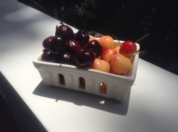 wonderful cherries from Karla! Thanks!