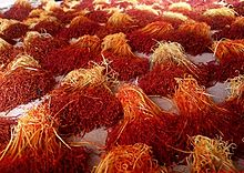 bundles of saffron threads