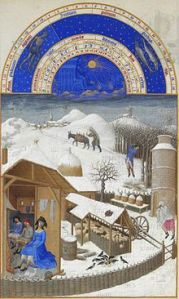 """February"" Tres Riches Heures, ca. 1412-16"