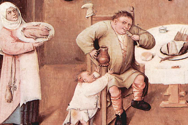 Bosch, Gluttony detail